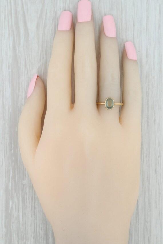 Green Tourmaline Ring, 18k Gold Ring, Yellow Gold… - image 7
