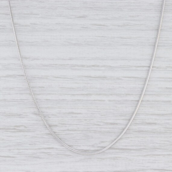 "Snake Chain Necklace, White Gold Chain, 18"" Chain"