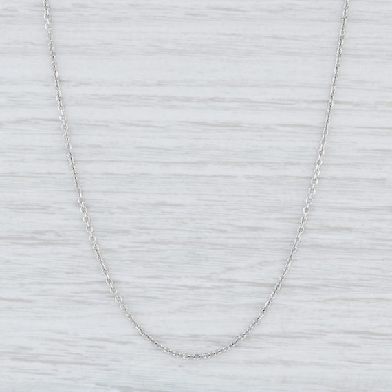 Cable Chain Necklace, Sterling Silver Necklace, 18