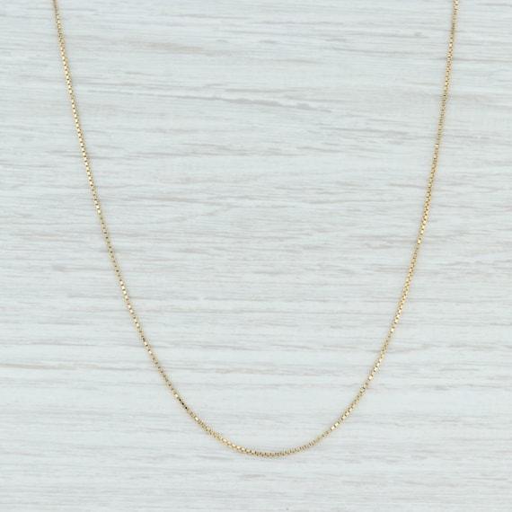 Box Chain Necklace, Gold Chain Necklace, Gold Box