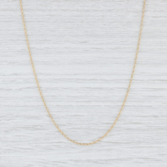 """Rope Chain Necklace, 14k Yellow Gold Chain, 18"""" Ch"""