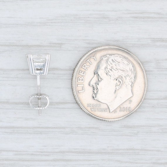 Single Diamond Stud, Single Diamond Earring, Whit… - image 4