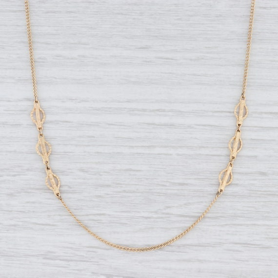 Long Layer Necklace, Yellow Gold Chain, Curb Chain