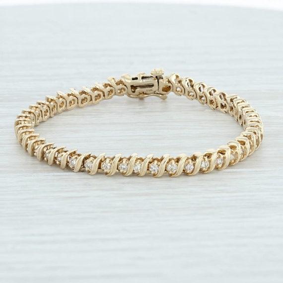 Diamond Tennis Bracelet, Gold Diamond Bracelet, Go