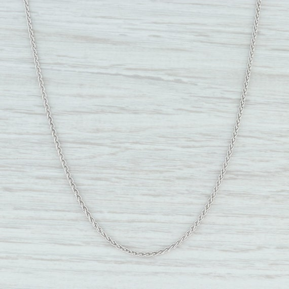"Wheat Chain Necklace, White Gold Necklace, 18"" Cha"