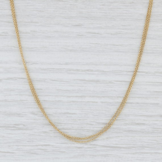 3-Strand Necklace, Cable Chain Necklace, Yellow Go