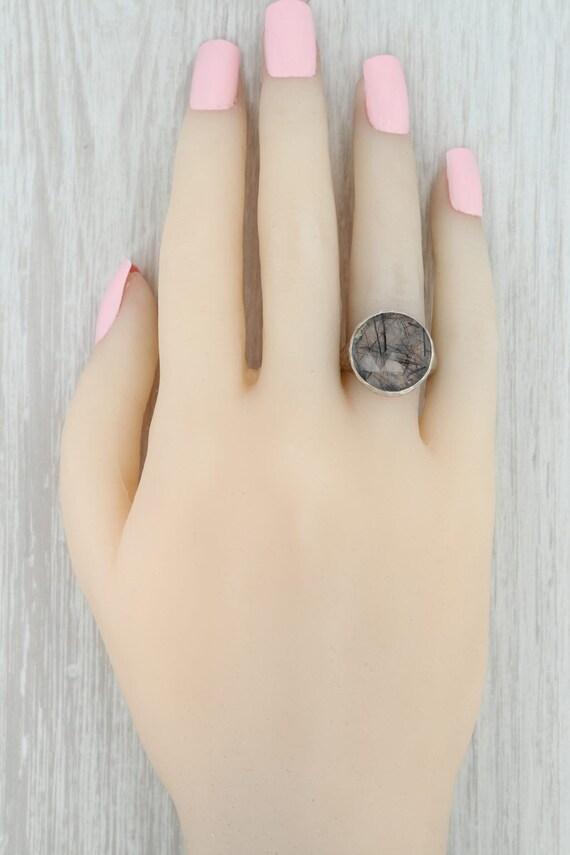 Tourmalated Quartz Ring, Gemstone Statement Ring,… - image 8