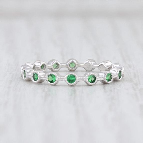 Tsavorite Garnet Ring, Green Garnet Ring, Garnet … - image 3