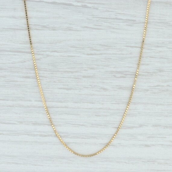 "Box Chain Necklace, 18"" Chain Necklace, Yellow Gol"