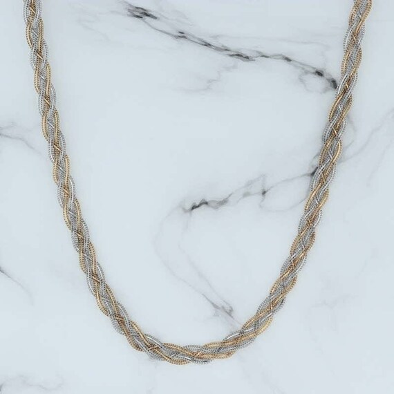 "Woven Bismarck Chain, 18"" Necklace, Woven Necklace"