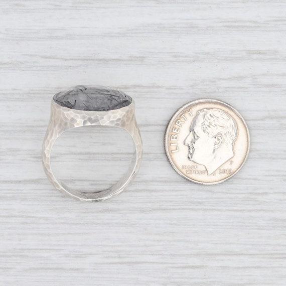 Tourmalated Quartz Ring, Gemstone Statement Ring,… - image 7