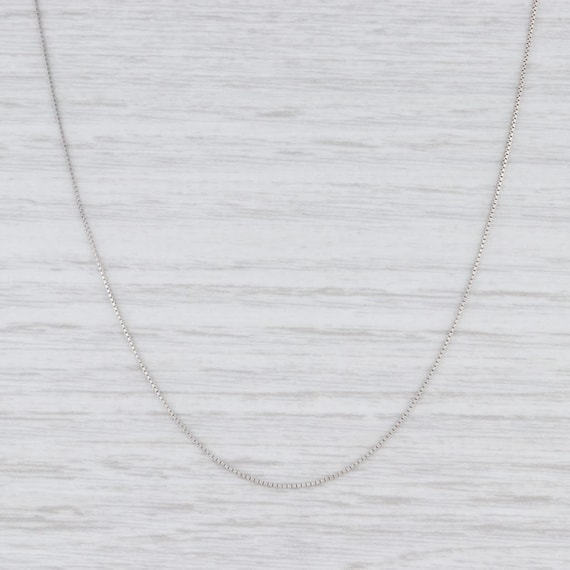"Box Chain Necklace, White Gold Chain, 16"" Chain Ne"