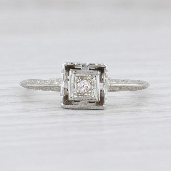 Vintage Diamond Ring, Ostby Barton Ring, Diamond … - image 2
