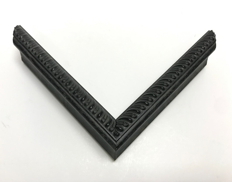 16x20 and Any Custom Sizes Available Black Carved Narrow Picture Frame with Cream Mat 5x7 6x8 8x10 11x14 9x12 14x16