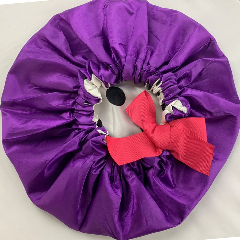 a02cf62d1 Adjustable Silk Lined Hair Bonnet Purple
