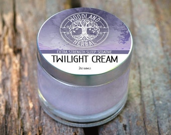 Twilight Cream 2oz - Extra Strength Sleep Sedative to Support Deep Sleep, Ease Anxiety, Soothe Sore Muscles, Achy Joints and Inflammation