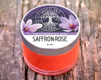 Saffron-Rose Beauty Cream - All Natural, Powerful Moisturizer for Skin Rejuvenation, Face Mask, Spot Treatment for Acne, Wrinkles, Age Spots
