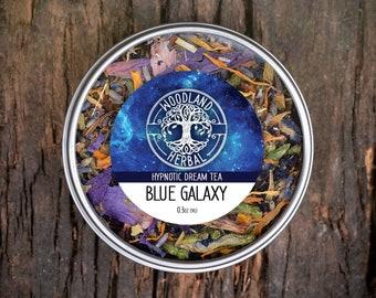 Blue Galaxy Tea - Organic Tea for Dreaming, Calming Anxiety, Easing Stress, Powerful Sleep Aid Before Bedtime - Naturally Blue Color Tea