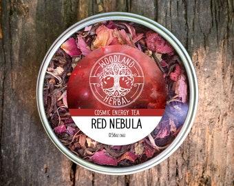 Red Nebula Tea - Cosmic Energy Tea for Boosting Energy Levels, Mental Clarity, Cognitive Function, Positive Mood - Organic Tea Blend
