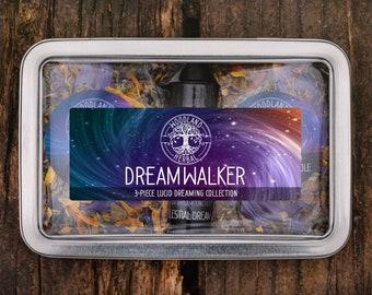 Dreamwalker Collection - Lucid Dreaming Kit with Down the Rabbit Hole Tea + Celestial Dreams Tincture + Blue Galaxy Tea - Powerful Sleep Aid
