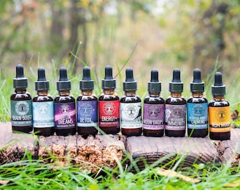 4 Tincture Special - Buy 3 Get 1 FREE! Potent Medicinals for Sleep, Stress, Anxiety, Mood, Focus, Energy, Immunity, Seasonal Allergies