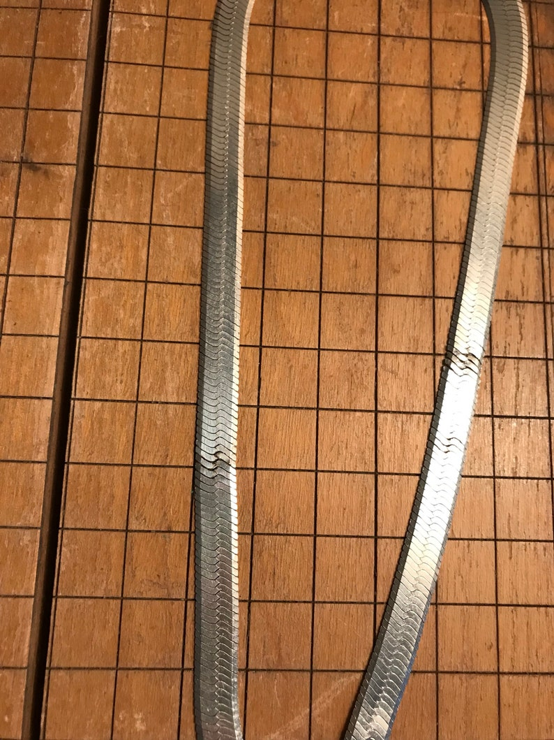 18 Length Herringbone 8mm Wide of Solid 925Sterling Silver from Italy