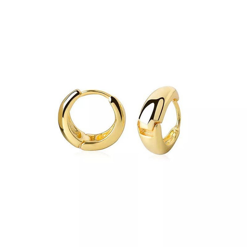 Everyday Jewelry Professional Minimal Jewelry Valentine Gift For Her Gold Hoop Earrings Classic Gold Filled Dainty Huggie Hoops