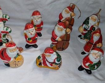 vintage 12 charming unique santa claus christmas ornaments