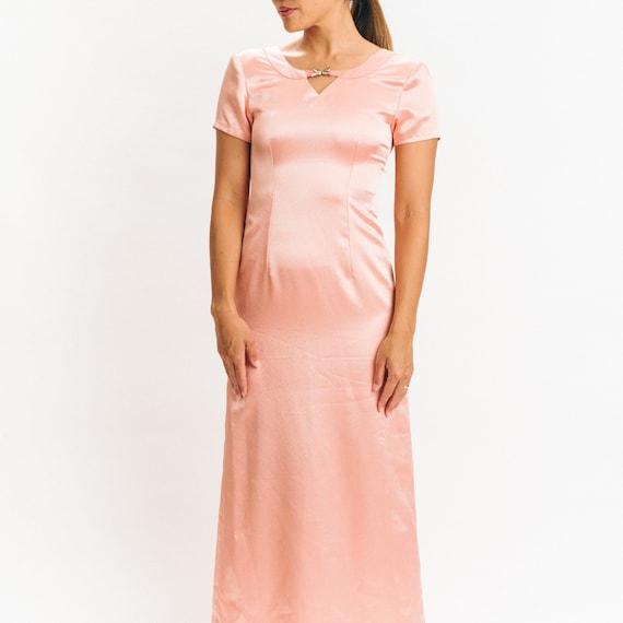 Peach Pink Silk Evening Gown vintage xs xxs 20's 3