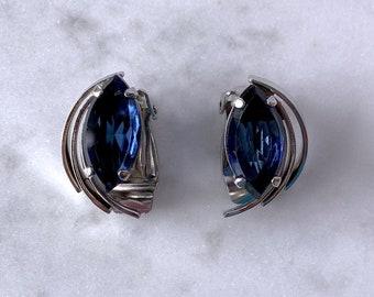 Vintage Clip On Earrings, Statement Earrings, Costume Jewelry, September Birthday Jewelry