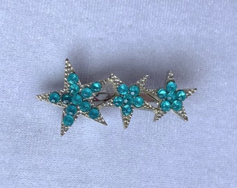 Star Brooch, Vintage Brooch, Aquamarine Jewelry, Graduation Gift for Her