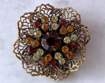 Autumn Brooch, Vintage Jewelry, Sustainable Fashion, Thank You Gift