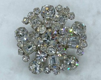 1950s Brooch, Rhinestone Statement Brooch, Sustainable Fashion, Mothers Day Gift From Daughter