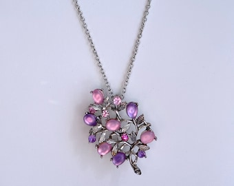 Pink and Purple Vintage Brooch, Sustainable Fashion, Mothers Day Gift From Daughter