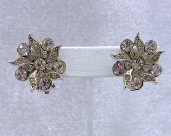 Rhinestone Earrings, Vintage Jewelry, Mothers Day Gift From Daughter