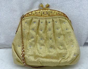 Gold Clutch, Vintage Purse, Mother of the Bride Gift