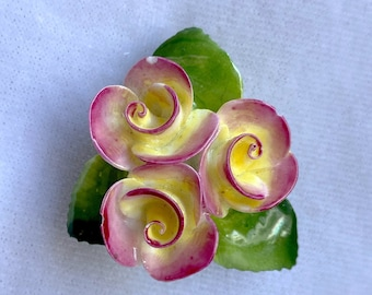 Staffordshire, Flower Brooch, 1940s Brooch, Mothers Day Gift From Daughter