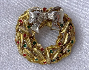 Christmas Wreath Brooch, Eco Friendly, Christmas, Gifts Under 20