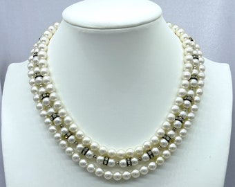 1950s Necklace, Pearl Necklace, Mothers Day Gift From Daughter