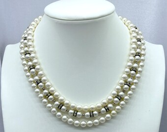 1940s Necklace, Pearl Necklace, Best Friend Gift