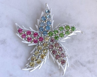 Pastel, Star Brooch, Vintage Jewelry, Mothers Day Gift From Daughter