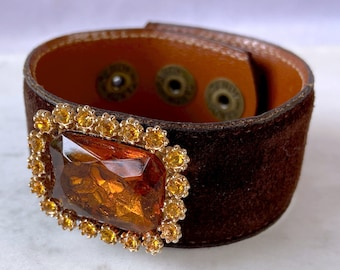 Autumn Bracelet, Cuff Bracelet, Vintage Jewelry, Fall Jewelry, Gift for Her