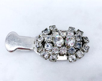 Rhinestone Hair Clip, Upcycled, Vintage Barrette, Stocking Stuffer, Gifts for Girls