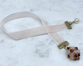 Ribbon Bookmark, Upcycled, Book Lover Gift, Stocking Stuffer