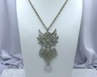Vintage Owl Necklace, Owl Jewelry, Hippie Necklace, Boho Necklace, Owl Lover Gift