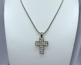 Cross Pendant, Vintage Necklace, Christmas, Gift From Daughter