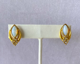 Faux Opal, Vintage Earrings, Vintage Avon Jewelry, Birthday Gift for Her
