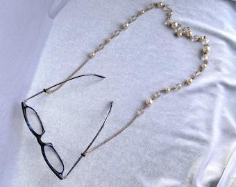 Eyeglasses Chain, Upcycled, Mask Lanyard, Zero Waste Gift