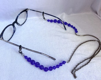 Eyeglass Chain, Upcycled, Mask Lanyard, Gift for Her
