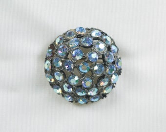 1940s Brooch, Vintage Gift, Rhinestone Brooch, Christmas, Gift for Her